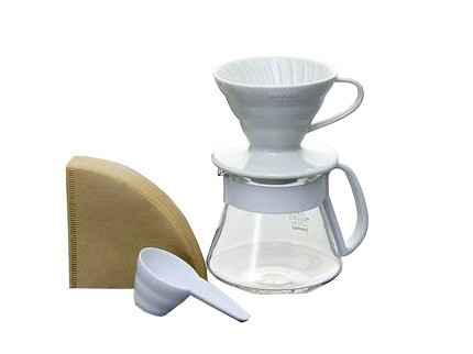 V60 Color Dripper & Pot White